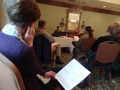 Daniel Wallace, Lynne Barrett, and Bill Loehfelm teach a class on plot