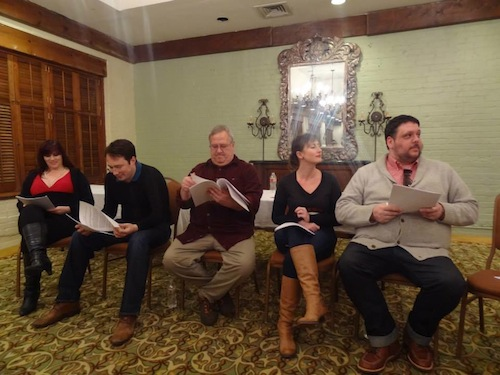 Tawni Waters, Daniel Wallace, Dinty W. Moore, Jeni Stewart, and Jesse Manley perform a reading of Merridith Allen's new play