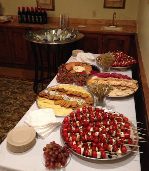 Refreshments for the keynote, provided by Shortall's BBQ