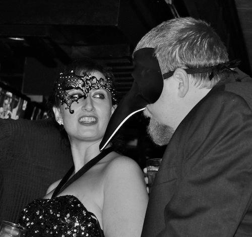 Talk flows when you're wearing a mask. (photo credit Matt Peters)